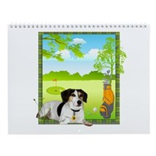 Arnie Goes Golfing by Vampire Dog Wall Calendar
