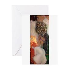 Goldfish by Gustav Klimt Greeting Cards