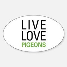 Live Love Pigeons Decal