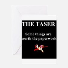taser Greeting Cards