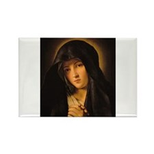 Cute Blessed mother prayer Rectangle Magnet