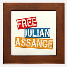 Free Julian Assange Framed Tile
