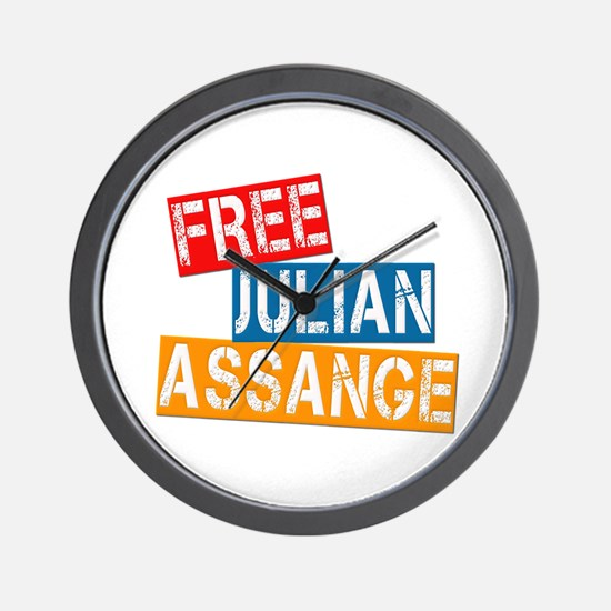 Free Julian Assange Wall Clock