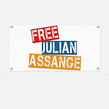 Free Julian Assange Banner