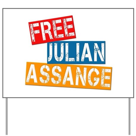 Free Julian Assange Yard Sign