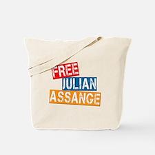 Free Julian Assange Tote Bag