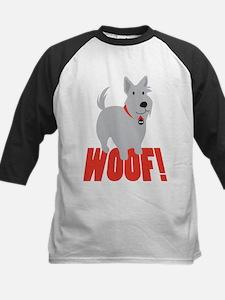 Scottish Terrier Woof! Kids Baseball Jersey