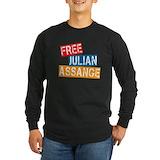 Assange Long Sleeve T-shirts (Dark)