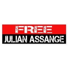Free Julian Assange Bumpersticker Bumper Sticker