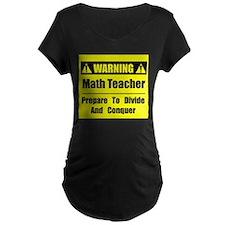 WARNING: Math Teacher 1 T-Shirt