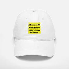 WARNING: Math Teacher 1 Baseball Baseball Cap
