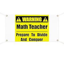 WARNING: Math Teacher 1 Banner