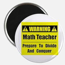 """WARNING: Math Teacher 1 2.25"""" Magnet (100 pack)"""