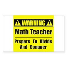 WARNING: Math Teacher 1 Decal