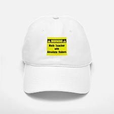 WARNING: Math Teacher 2 Baseball Baseball Cap