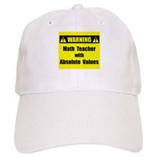 WARNING: Math Teacher 2 Baseball Cap