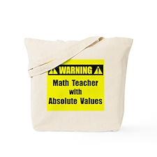 WARNING: Math Teacher 2 Tote Bag
