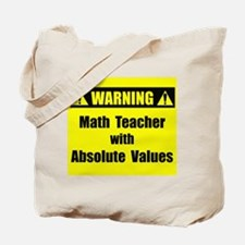 WARNING: Math Teacher 2 Tote Bag