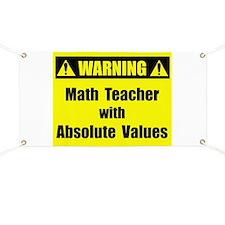 WARNING: Math Teacher 2 Banner