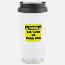 WARNING: Math Teacher 2 Travel Mug