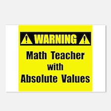WARNING: Math Teacher 2 Postcards (Package of 8)