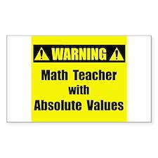 WARNING: Math Teacher 2 Decal