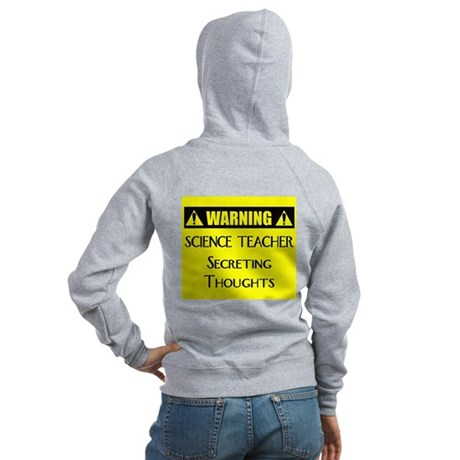 WARNING: Science Teacher Women's Zip Hoodie