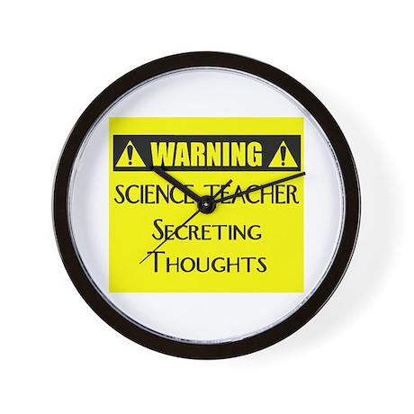 WARNING: Science Teacher Wall Clock