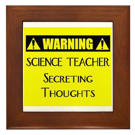 WARNING: Science Teacher Framed Tile