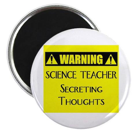 WARNING: Science Teacher Magnet