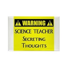 WARNING: Science Teacher Rectangle Magnet