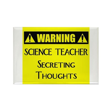 WARNING: Science Teacher Rectangle Magnet (100 pac