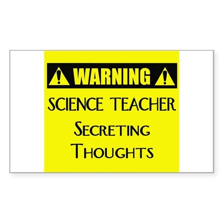 WARNING: Science Teacher Sticker (Rectangle)