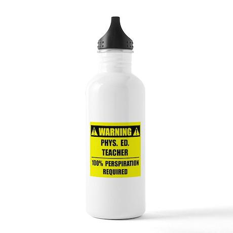 WARNING: P.E. Teacher Stainless Water Bottle 1.0L