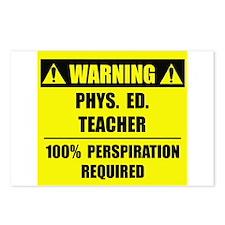 WARNING: P.E. Teacher Postcards (Package of 8)