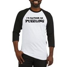 Rather be Puzzling Baseball Jersey