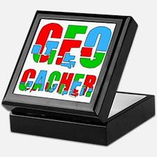 Patchwork Geocacher Keepsake Box