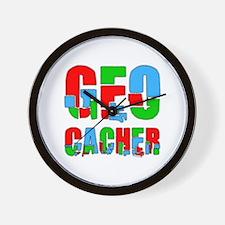 Patchwork Geocacher Wall Clock