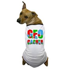 Patchwork Geocacher Dog T-Shirt