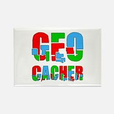 Patchwork Geocacher Rectangle Magnet