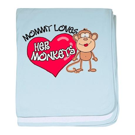 Mommy Loves Her Monkeys baby blanket