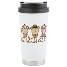 Hear See Speak No Evil Monkey Travel Mug