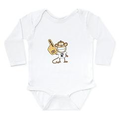 NEW JERSEY MONKEY Long Sleeve Infant Bodysuit