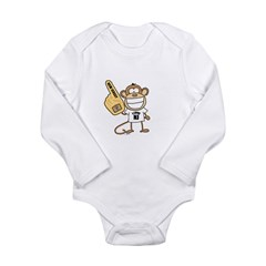 NEW JERSEY MONKEY Long Sleeve Infant Bodysuit