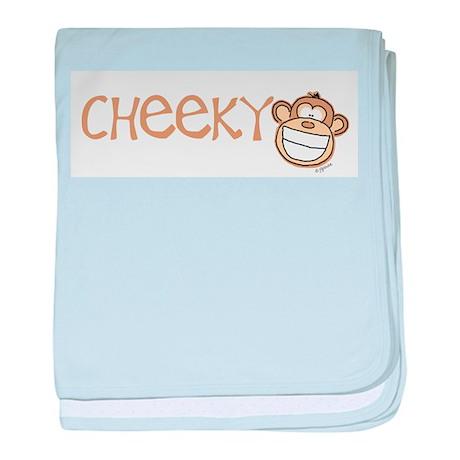 Cheeky Monkey baby blanket
