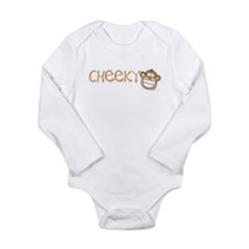 Cheeky Monkey Long Sleeve Infant Bodysuit