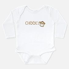 Cheeky Monkey Long Sleeve Infant Bodysuit