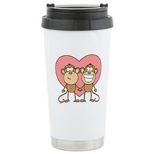 Monkey Love Couple Travel Mug