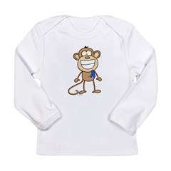 Blue Ribbon Monkey Long Sleeve Infant T-Shirt