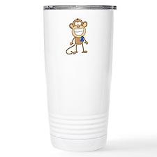 Blue Ribbon Monkey Travel Coffee Mug